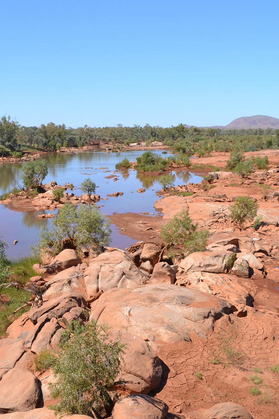 Rocky riverbank in Northern Australia
