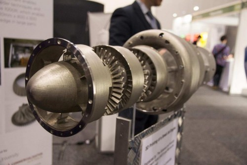 3D Printed Jet Engine on display at Monash Centre fro Additive Manufacturing