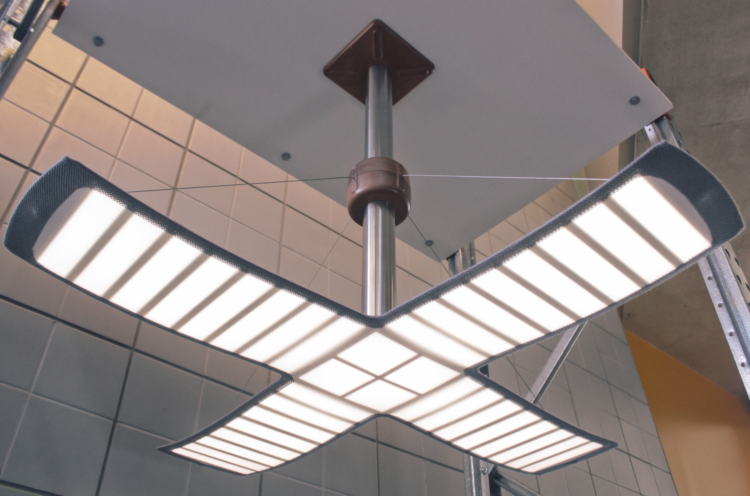 Picture of the pendant OLED light