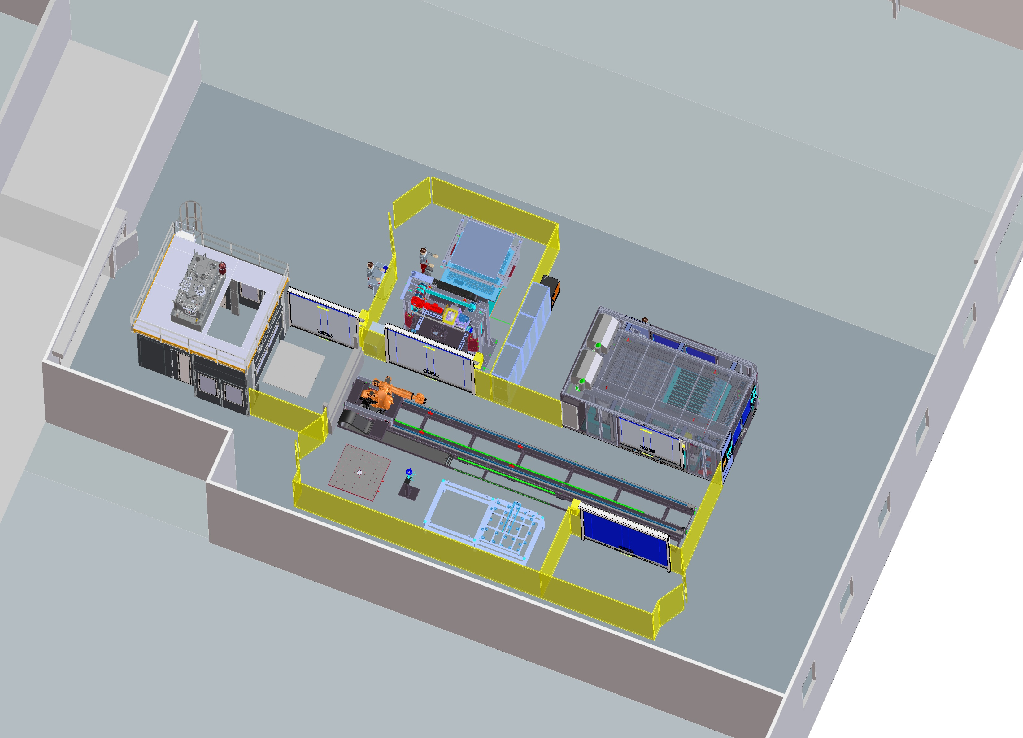 isometric view of new testlab facility
