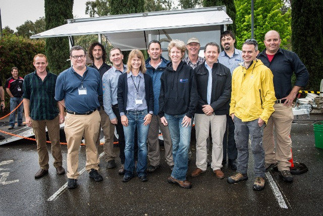 Group of twelve researchers making up the lab-at-rig project team