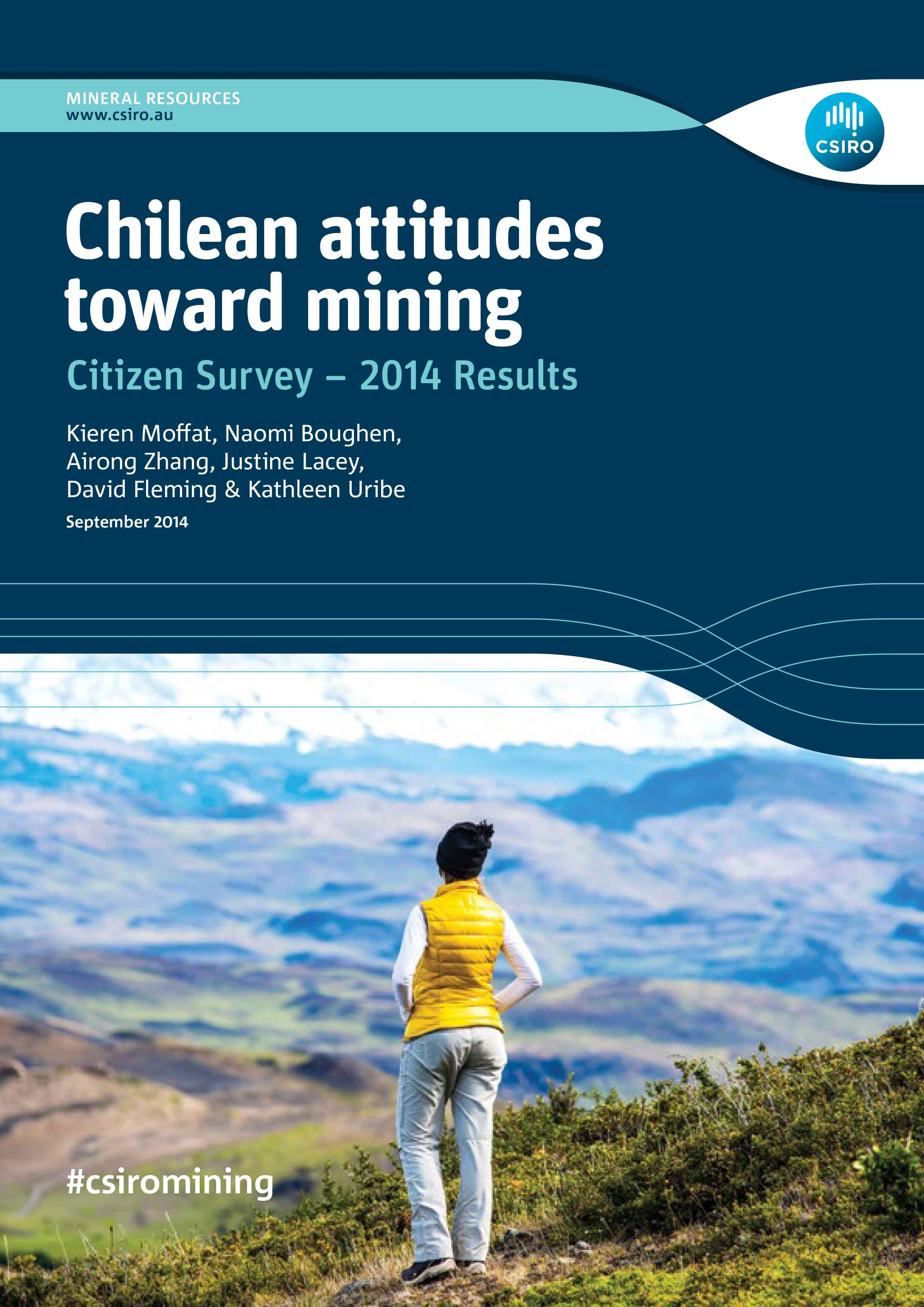 English cover of Chilean attitudes towards mining