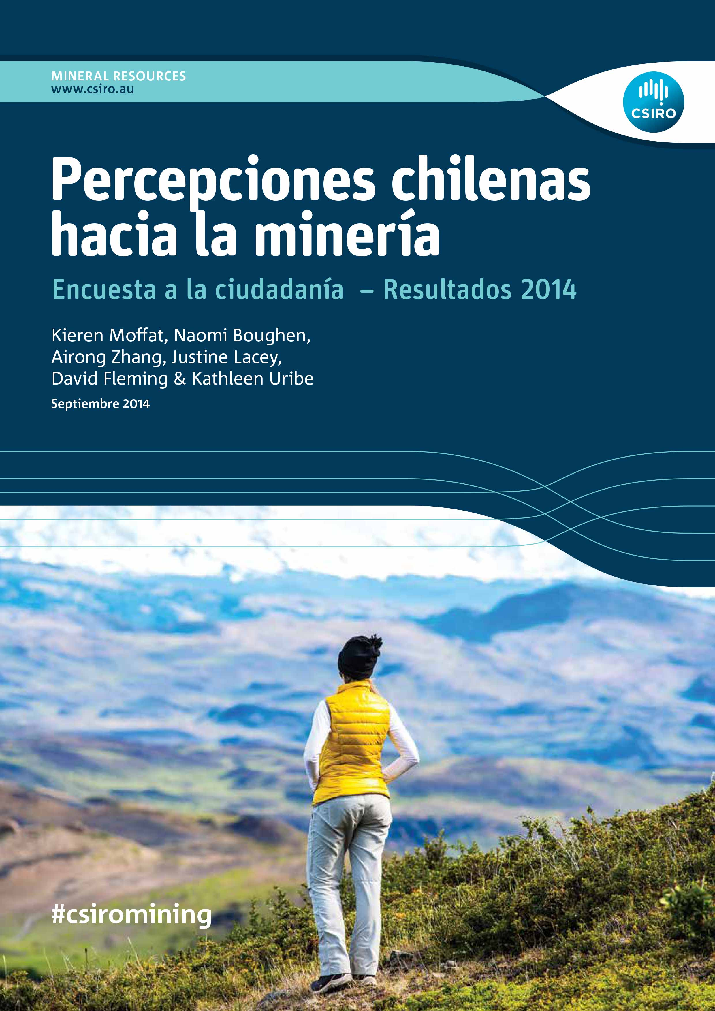 Cover of the Spanish version Chilean Attitudes Towards Mining Study