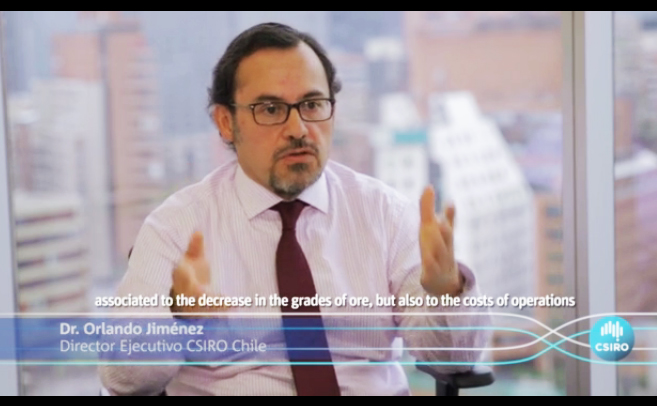 Dr Orlando Jiménez, Executive Director talks about CSIRO Chile in a video frame