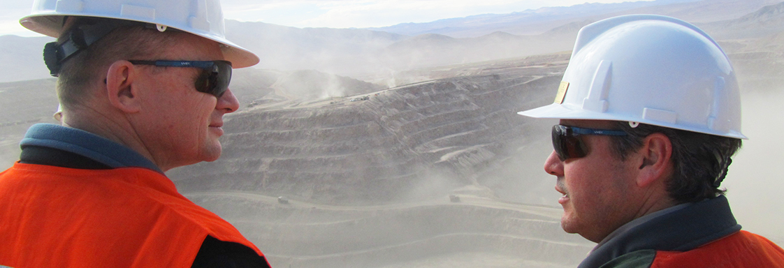 Jonathan Law and Lomas Bayas Mine representative