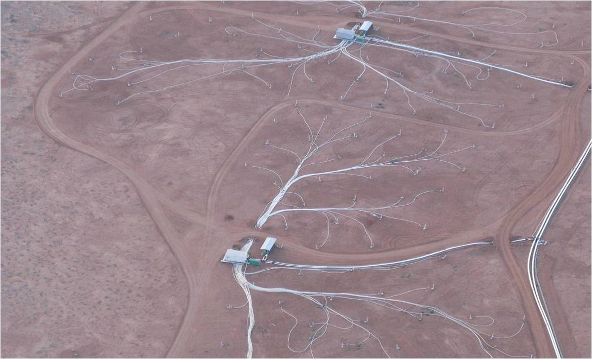 Aerial shot of part of the Beverley uranium field.