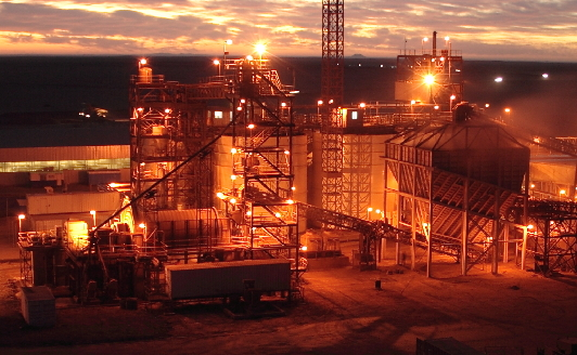 Industrial plant at sunrise