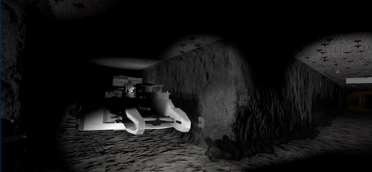 Robot in underground tunnel