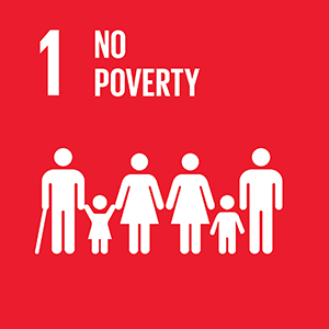 United Nations Sustainable Development Goal 1: No Poverty logo