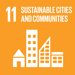 United Nations Sustainable Development Goal 11: Sustainable Cities and Communities logo