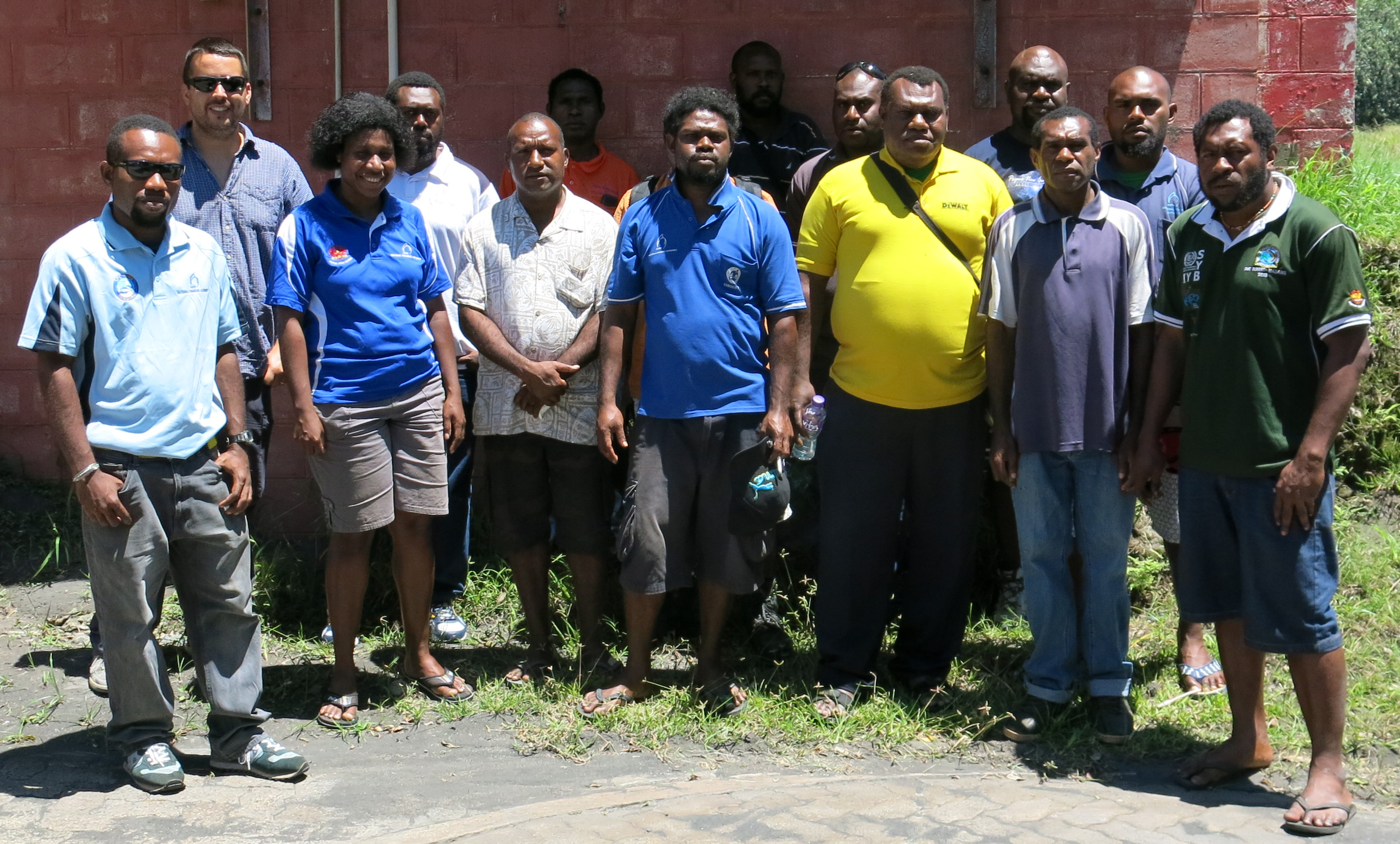 A group photo of local PNG people
