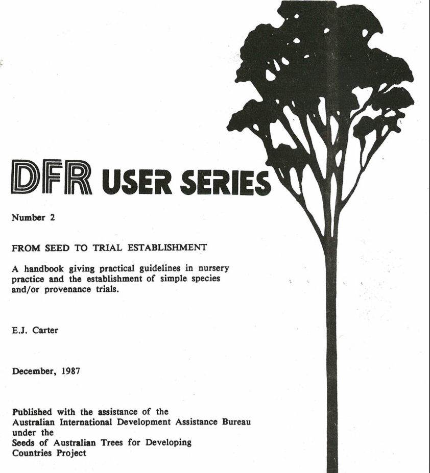 DFR User series: From seed to trial establishment
