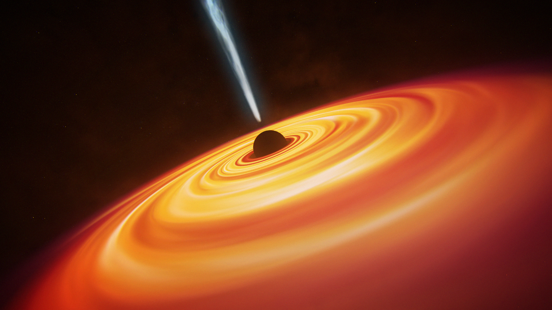 An artist's impression of a black hole.
