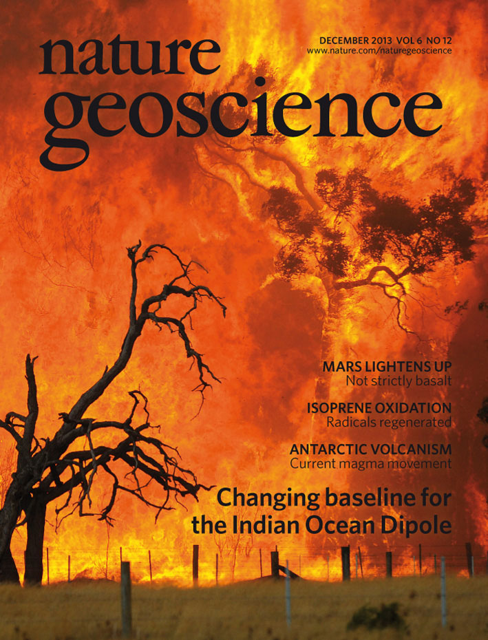 The December issue of Nature Geoscience.