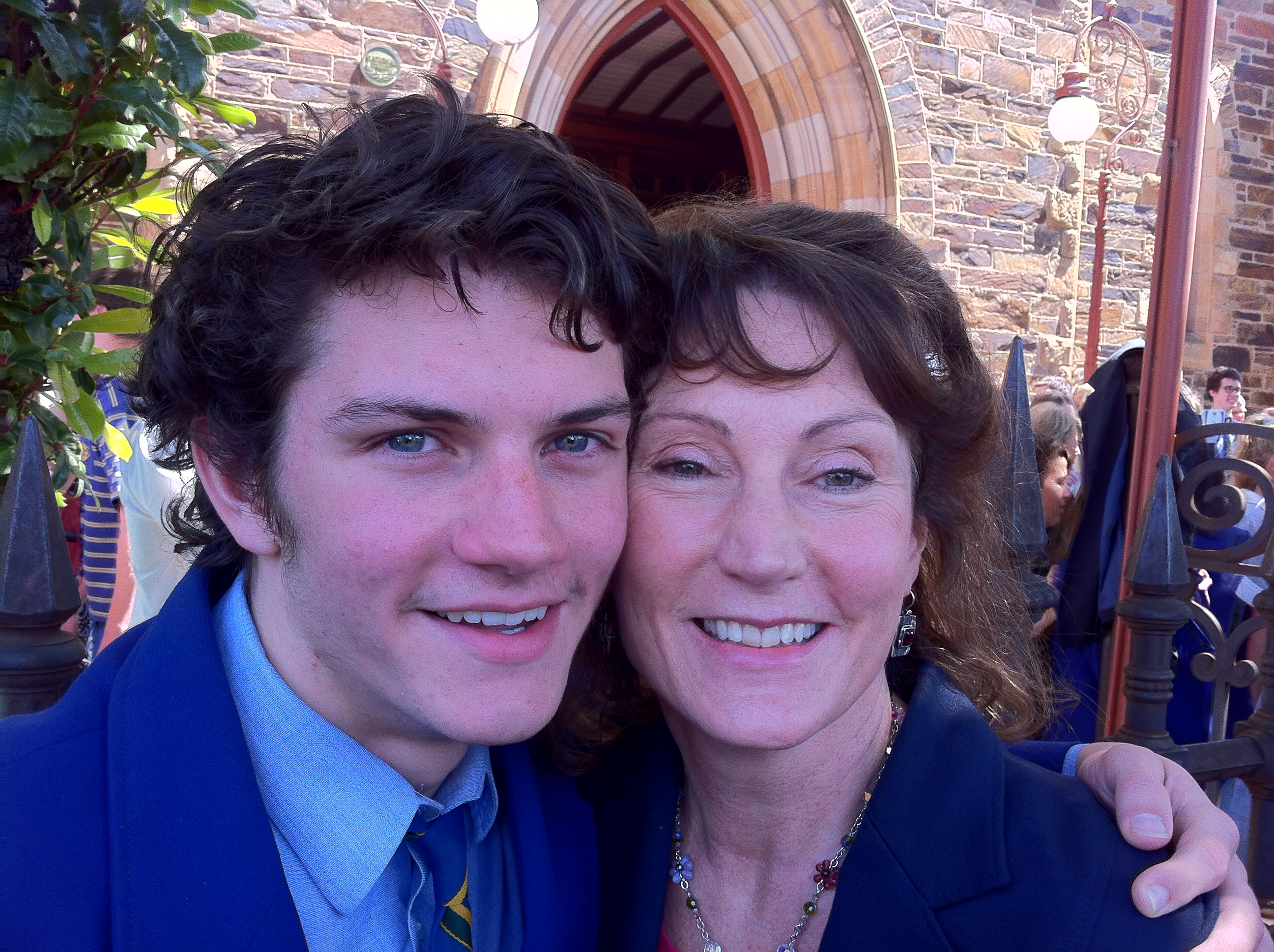Jack Allison with his very proud mum.