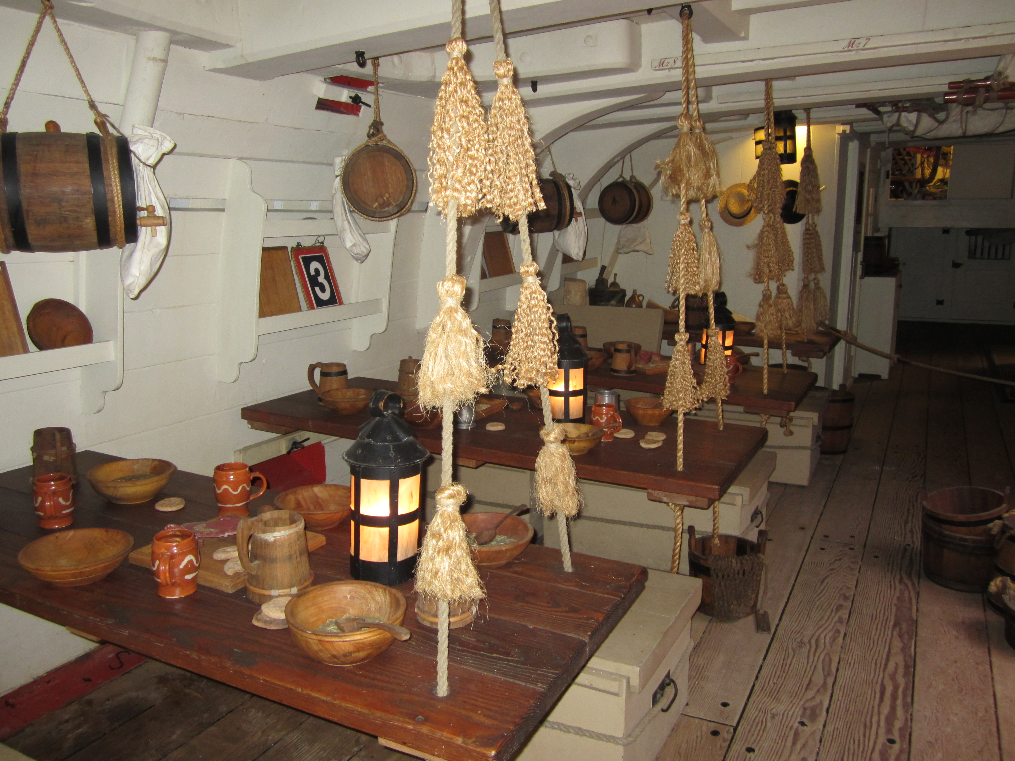 Below decks on Endeavour.