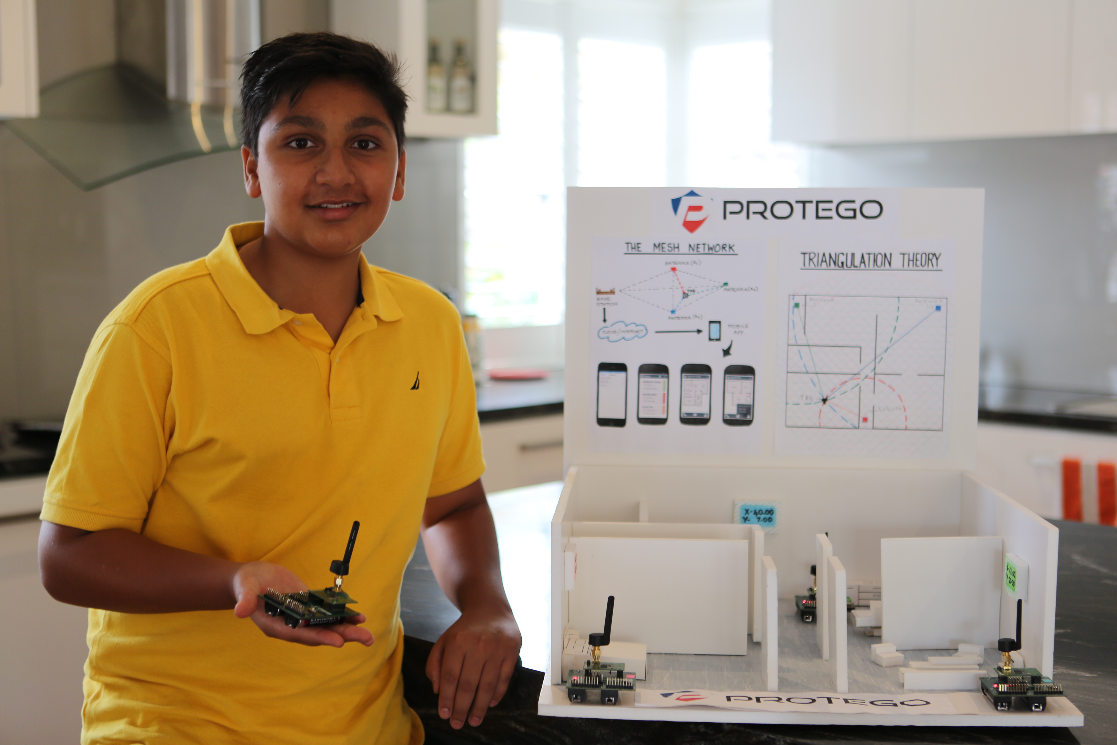 Dhruv Verma with his project