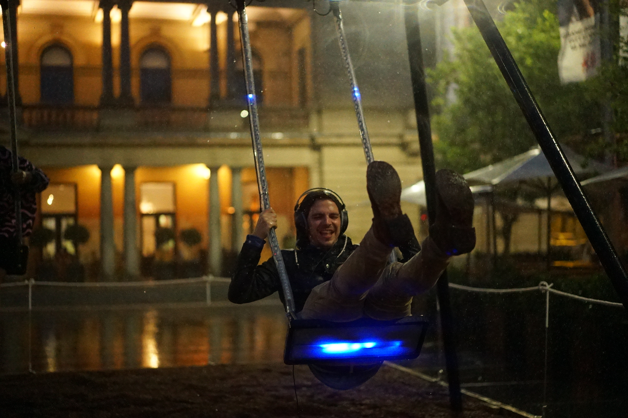 Person on Infinity swing.