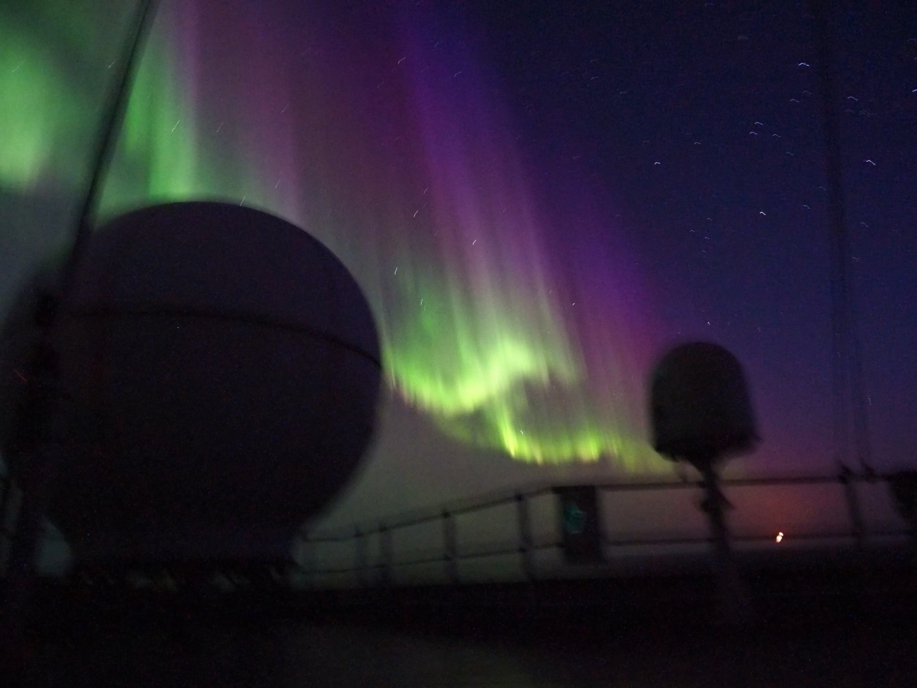 The Aurora Australis as seen from the RV Investigator.