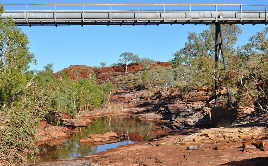 Water pipeline running through the Pilbara.