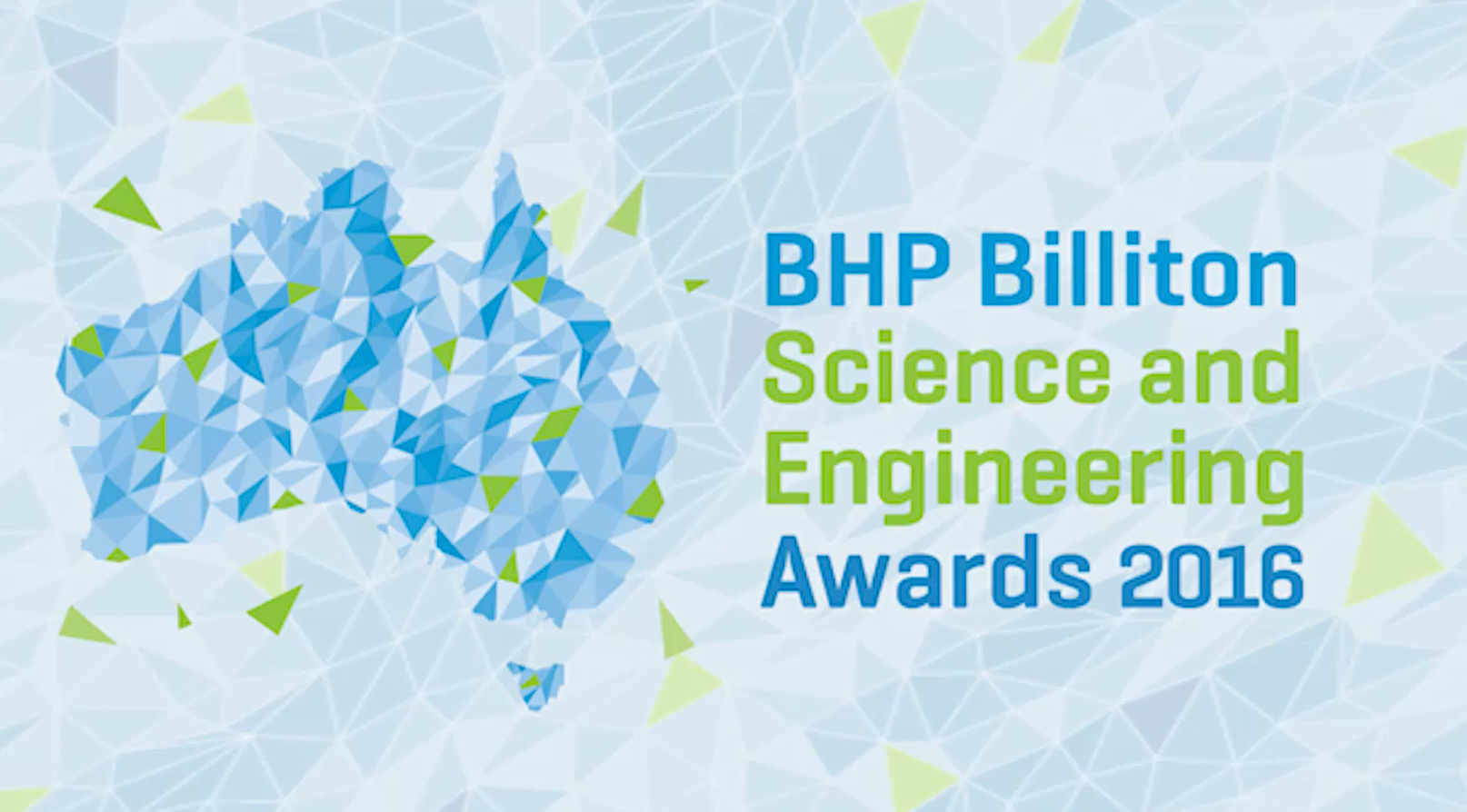 BHP science awards intro screen.