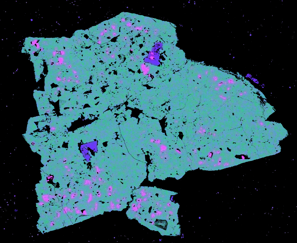 Characterisation image showing mineral 'footprint' pointing to potential zinc deposit.