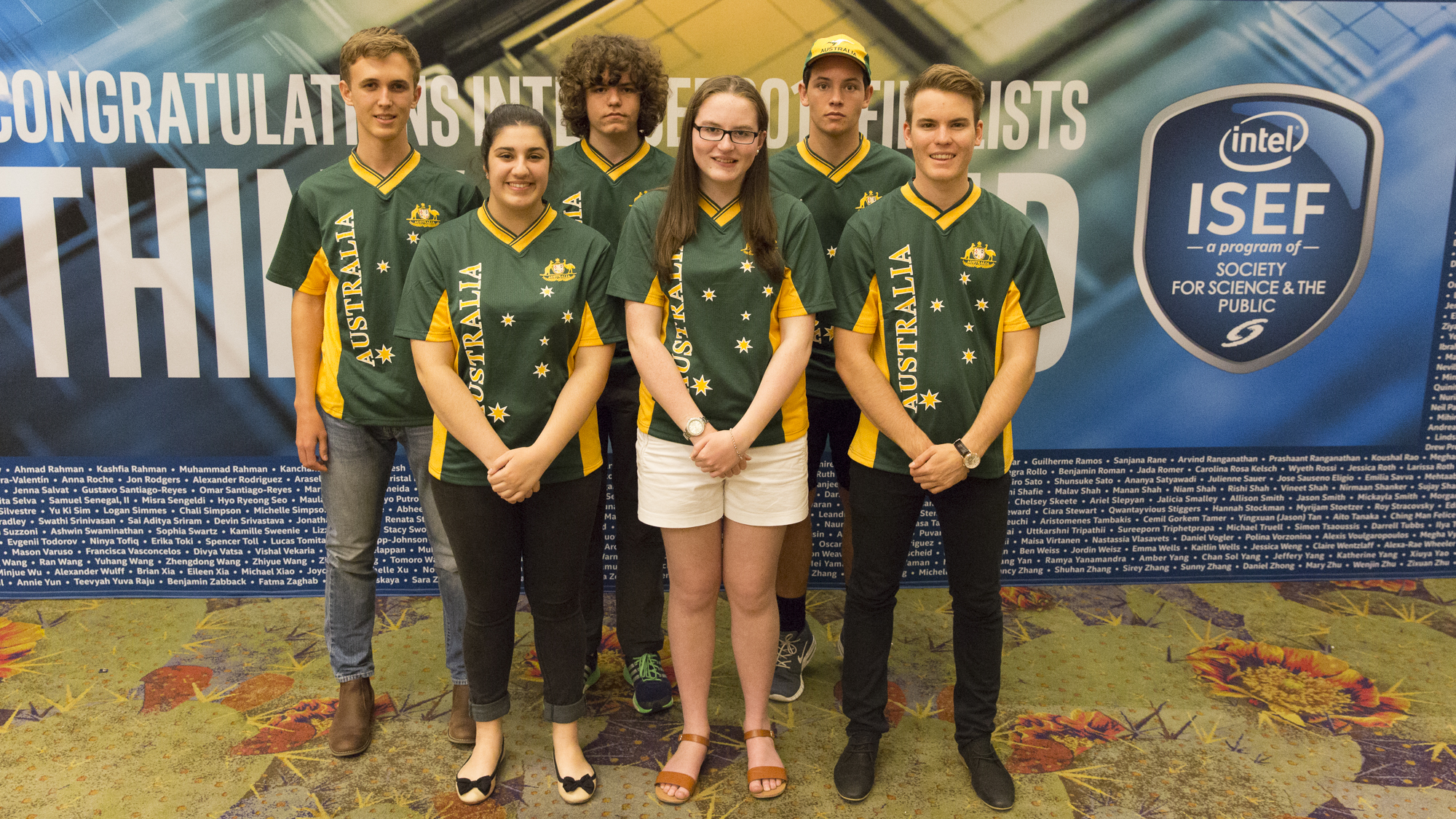 The Australian students at Intel ISEF