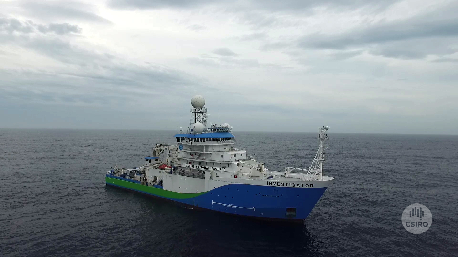 Research vessel Investigator at sea.