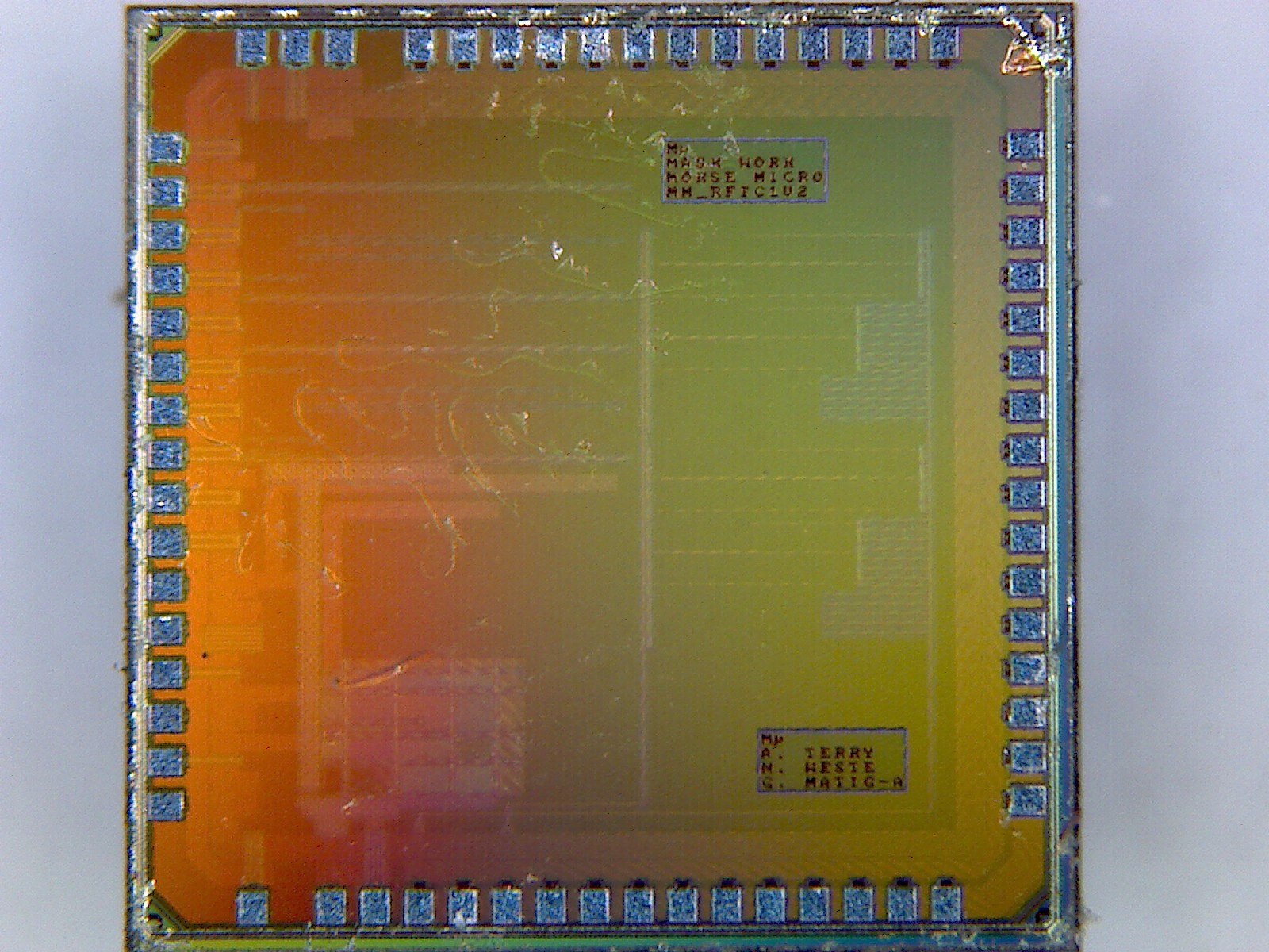 Microscope image of Morse Micro's first chip