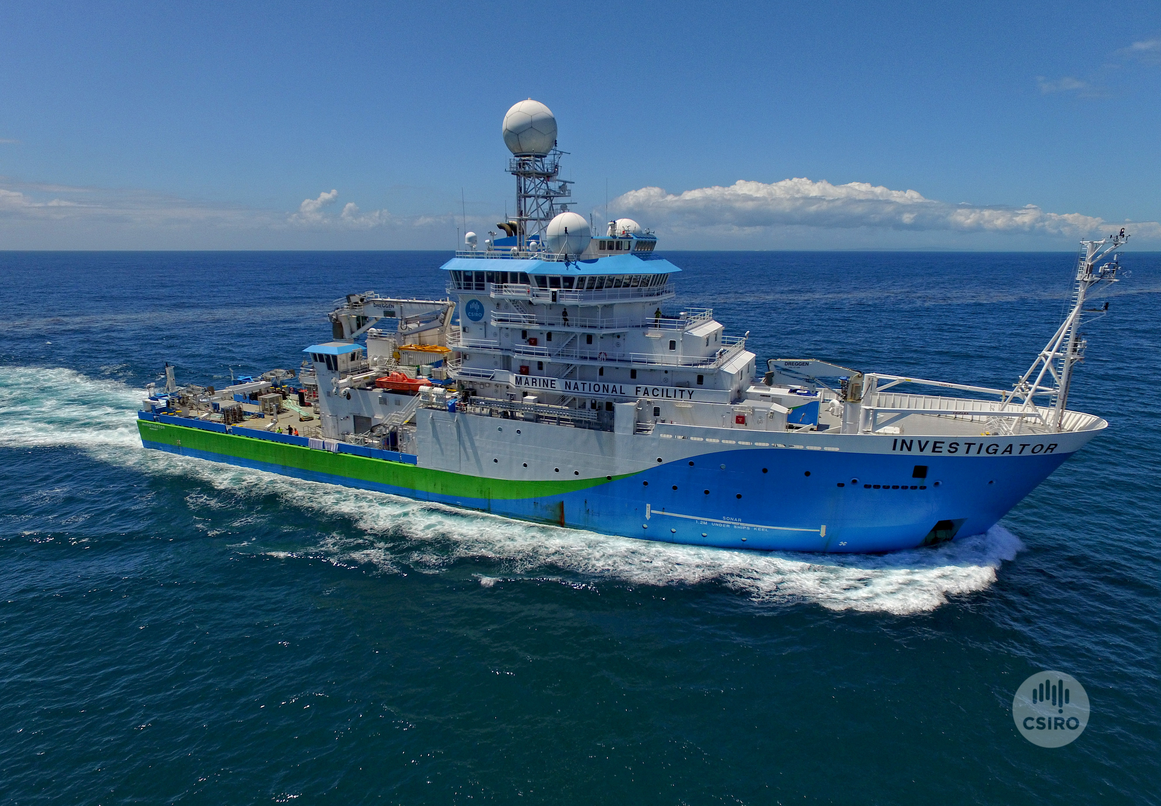CSIRO's research vessel Investiagor on the water