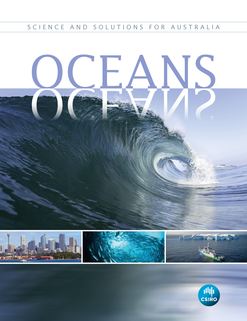 Book cover of the Oceans book.