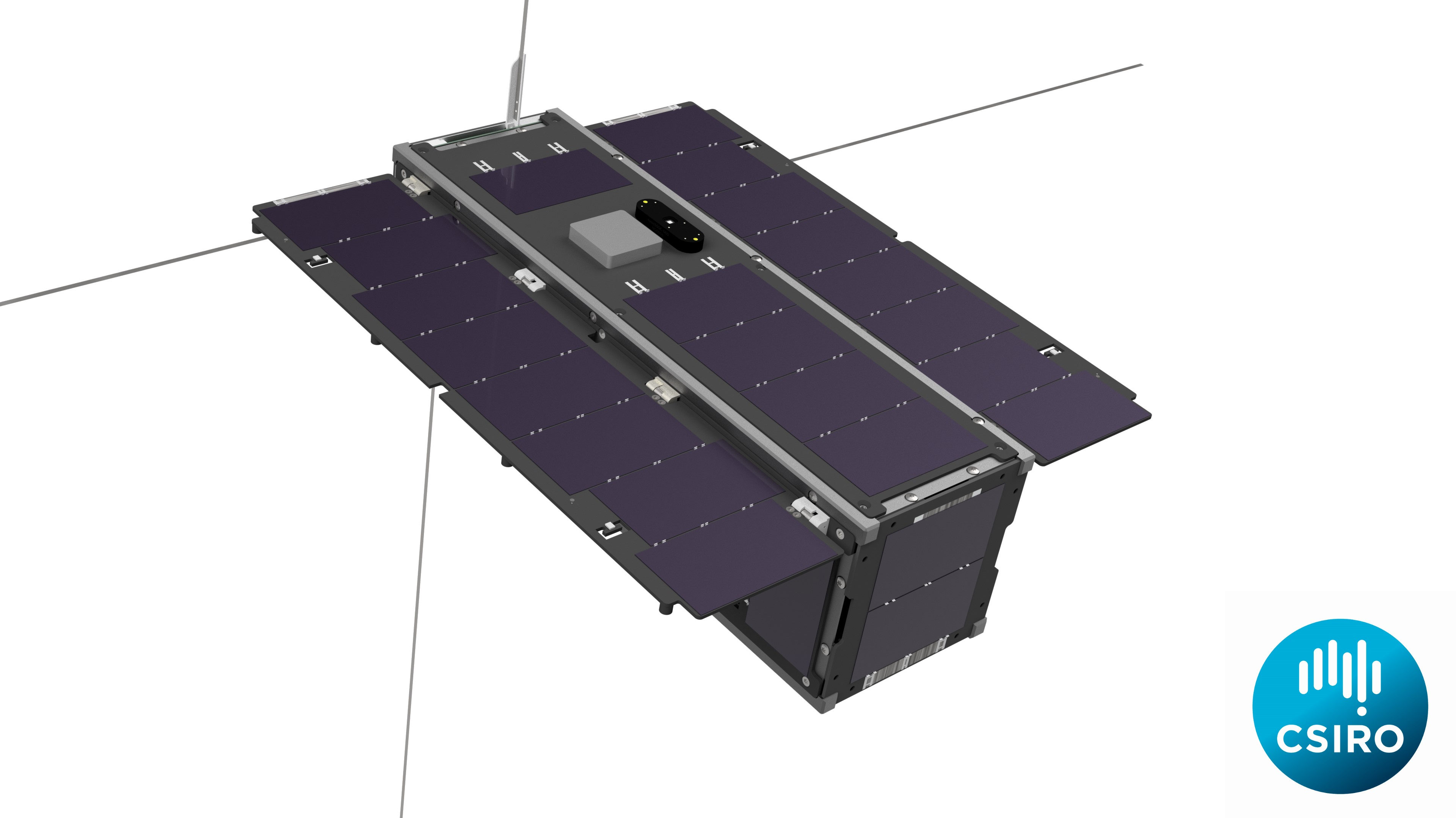 Artist Impression of CSIROSat -1 CubeSat from above.