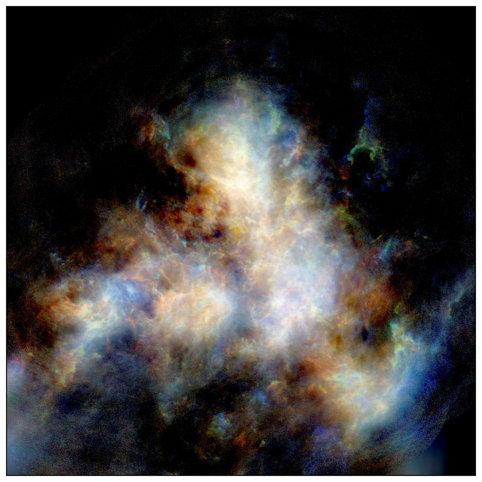A radio image of hydrogen gas in the Small Magellanic Cloud.