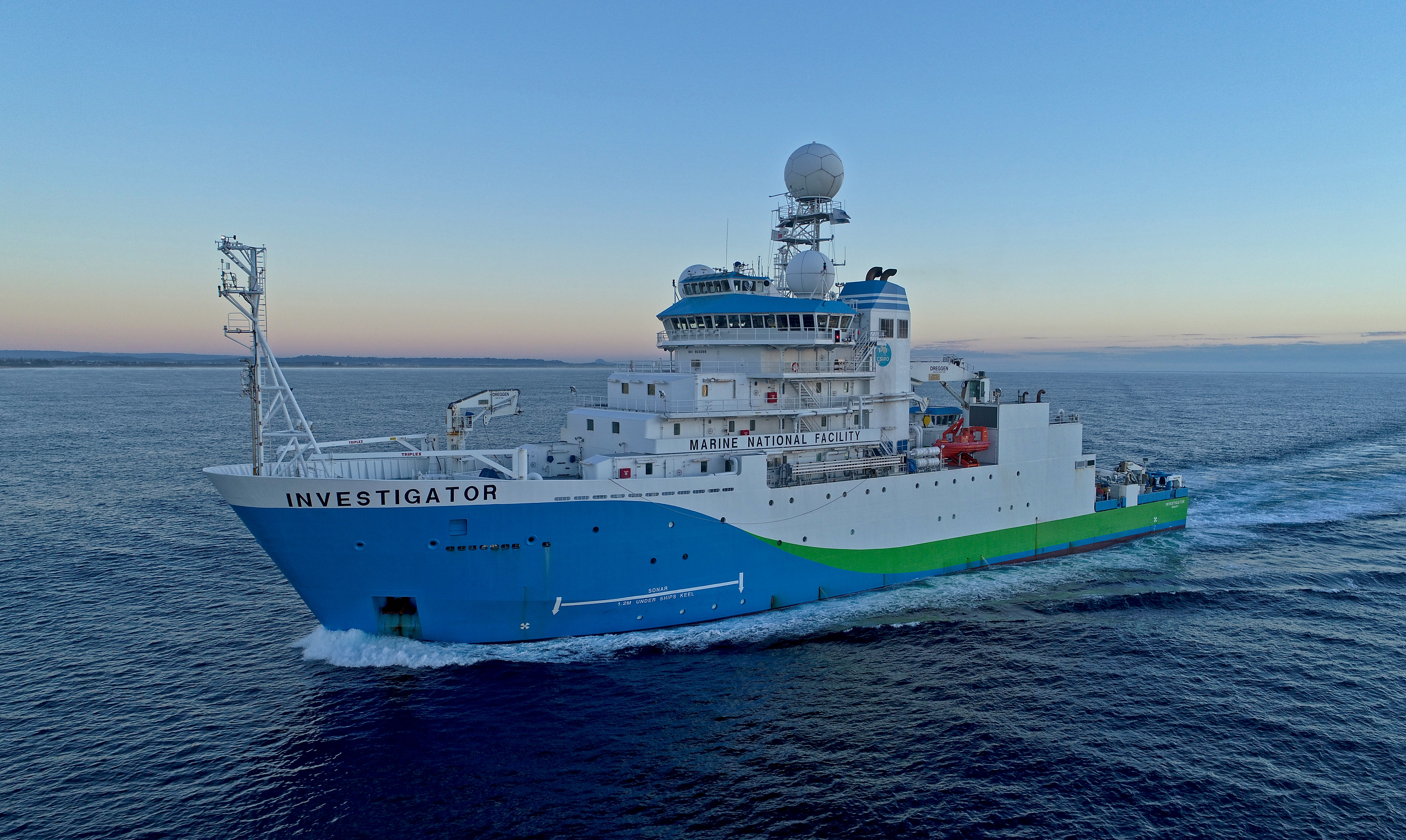CSIRO research vessel RV Investigator.