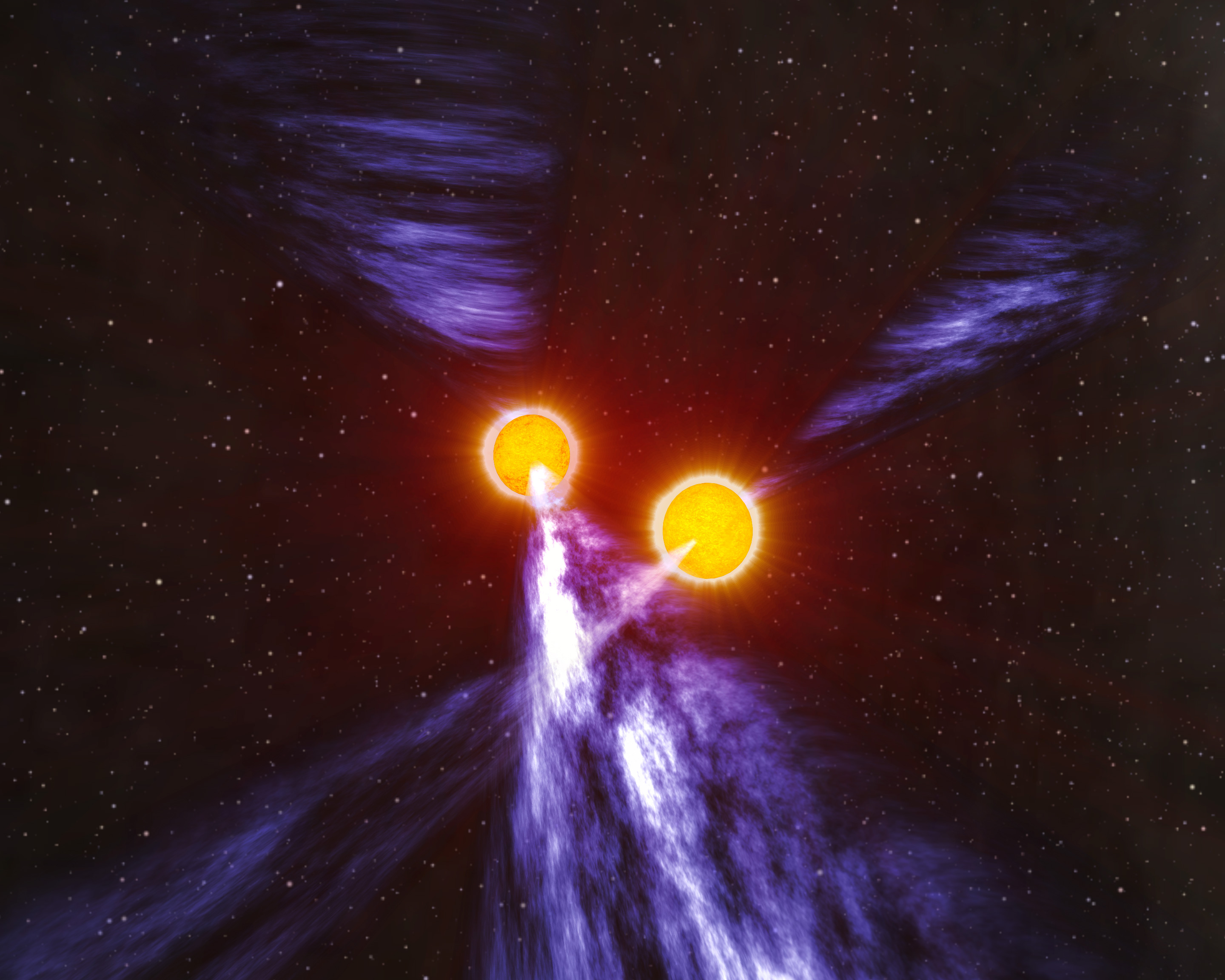 Artists impression of a double pulsar.