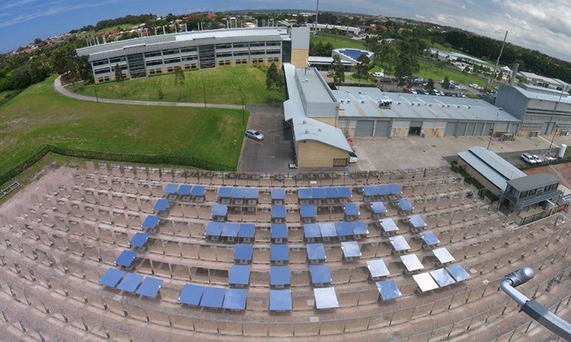 Solar panels aligned to spell CSIRO