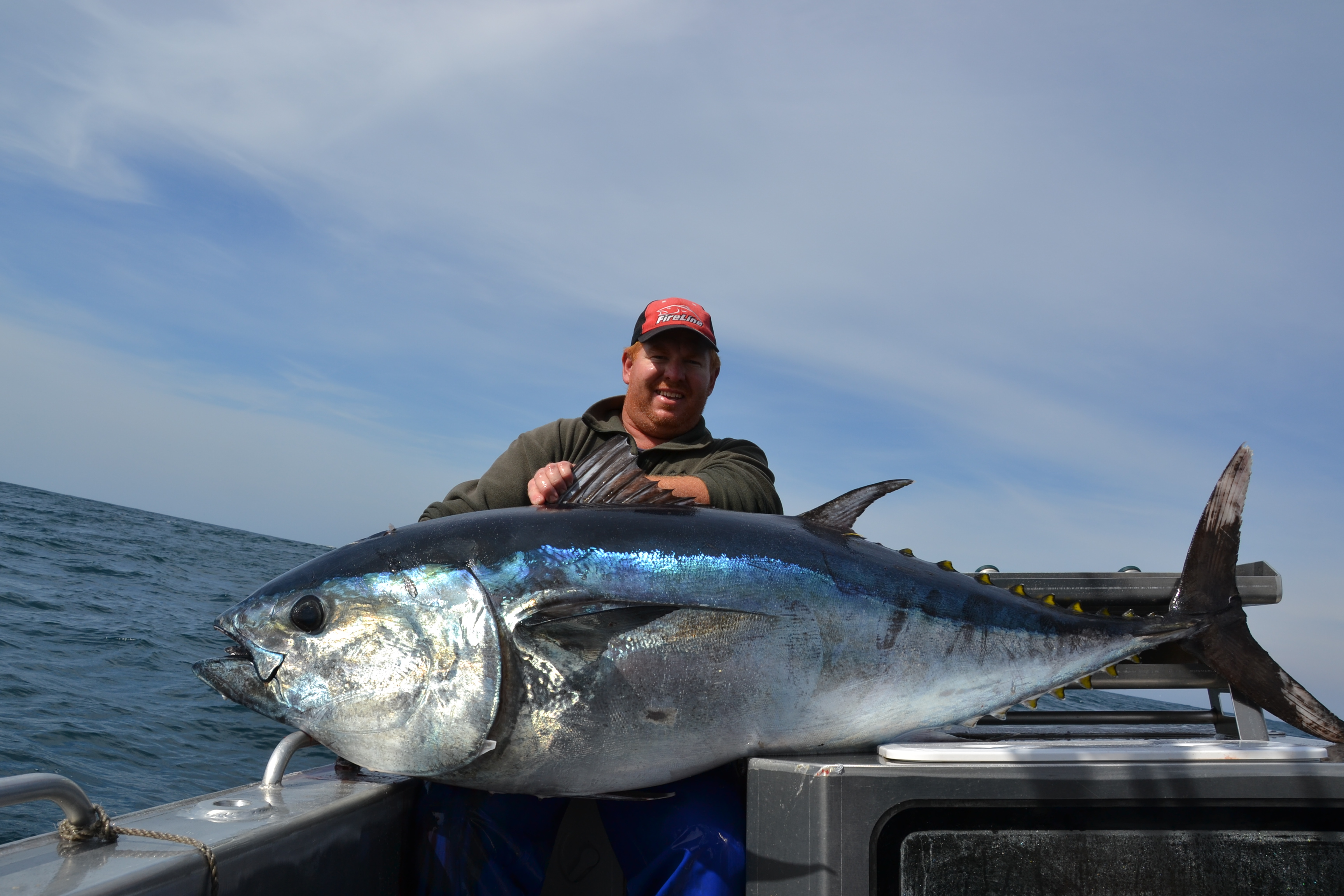 Matt Bell with the southern bluefin tuna