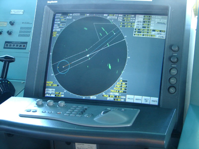 A ship navigation radar system