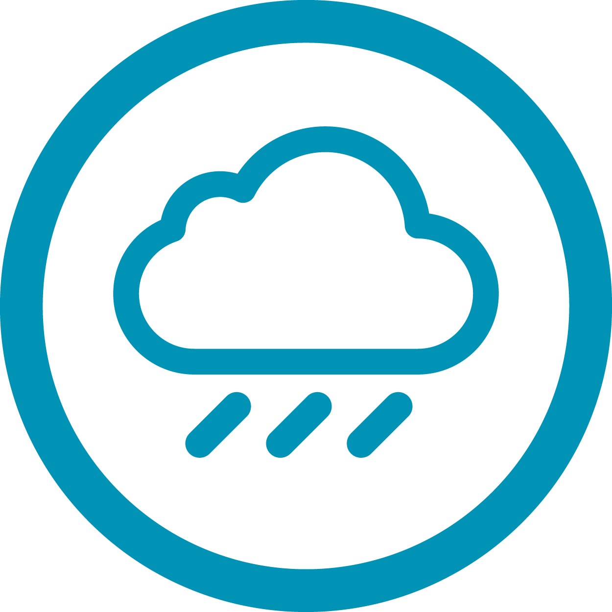 Rain clouds icon